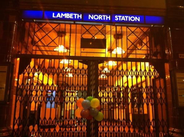 Lambeth North Station w/ Balloons